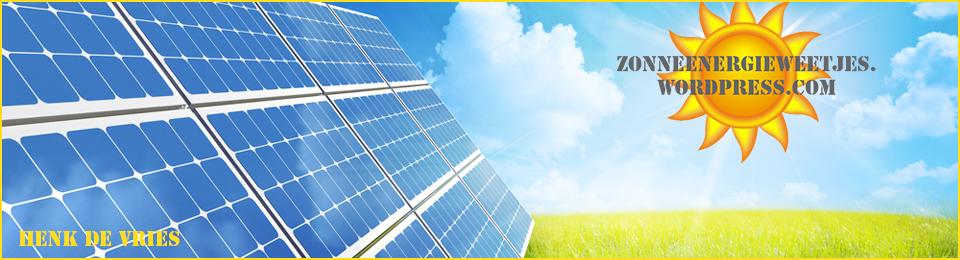 Zonne-energie weetjes!